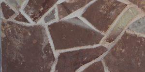 Štípaná dlažba Mediterran červená