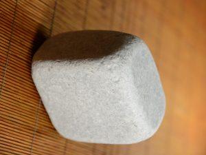 White marble cobblestone 10″ – worked - 3