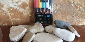 Sada kamínků a akrylových fixů - Kamínky na malování