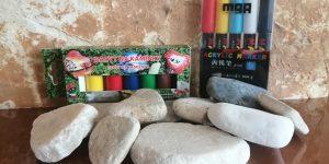 Sada kamínků, akrylových barev a fixů - Kamínky na malování